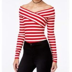 Material Girl Candy Cane Bodysuit